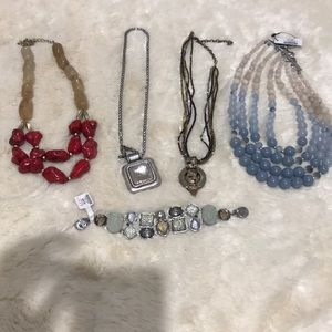 4 Chico's Necklaces &Bracelet Excellent Condition